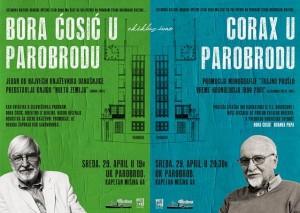 Bora Ćosić i Corax, titani nacionalne kulture u sredu, 29. aprila u Parobrodu